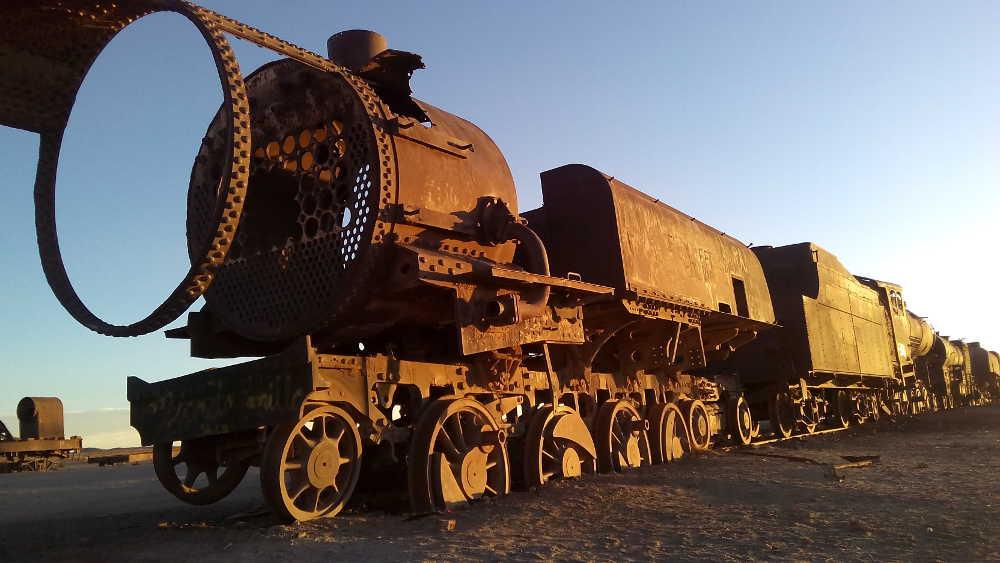 A sunken train