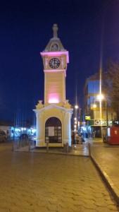The clock tower at Uyuni