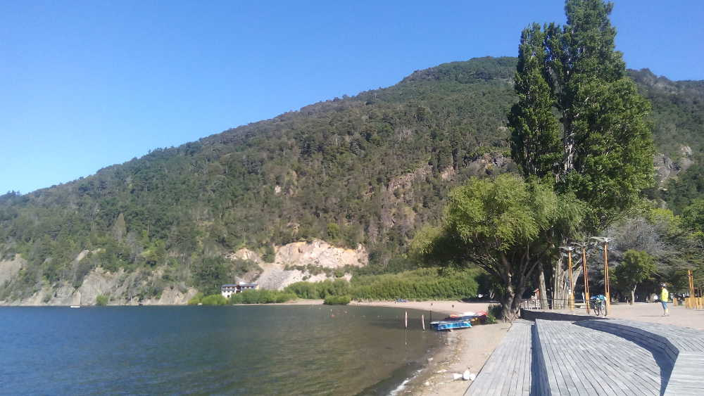 The lakeside of Lago Lacar at San Martin de los Andes, Argentina