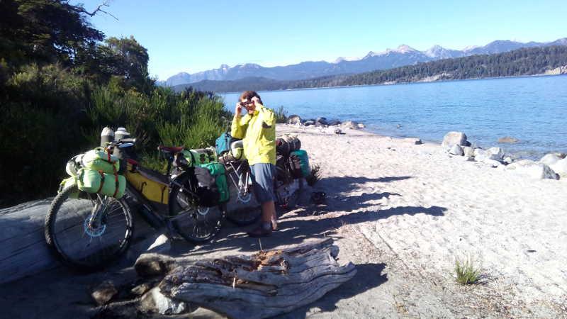 Campsite beside Lago Nahuel Huapi