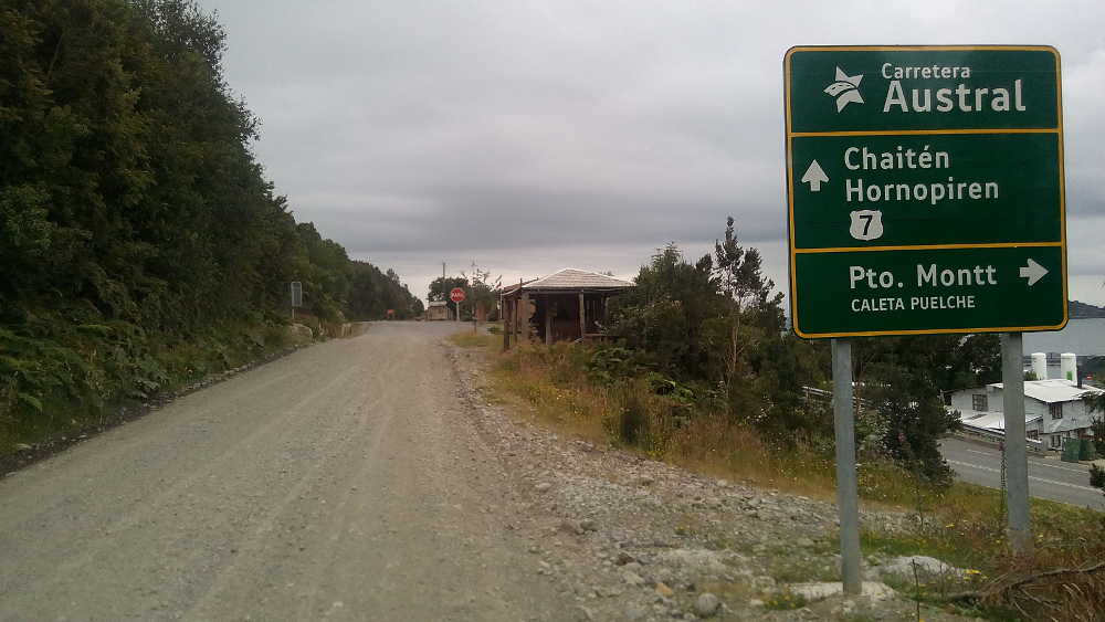 The start of the Carretera Austral