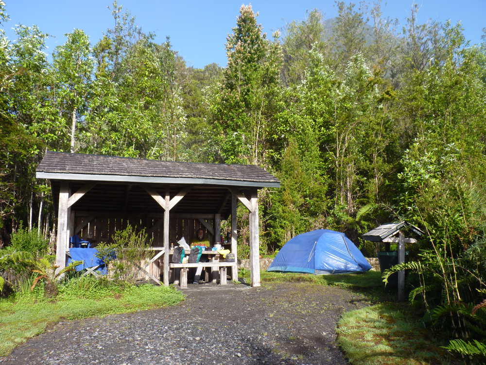 The campsite in Pumalin park