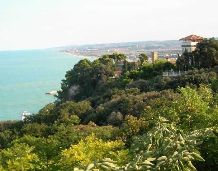 View from Sirolo on the Conero headland near Ancona, Le Marche, Italy